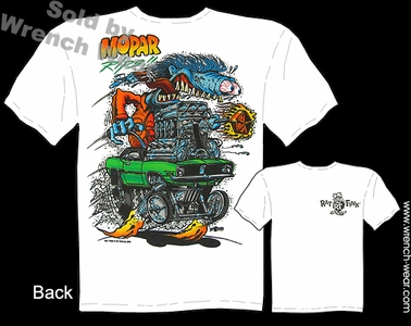 Rat Fink T Shirt Big Daddy Shirts Mopar Rips 70 Cuda Ed Roth Clothing