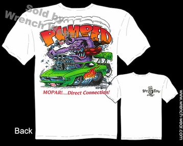 Rat Fink T Shirt Pumped Mopar Big Daddy Tee 1970 Hemi Cuda 70 Ed Roth Clothing