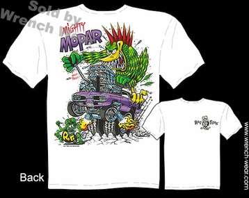Rat Fink Tshirt Mighty Mopar 1970 Dodge Coronet Mopar Shirts Big Daddy T