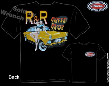 Speed Shop Shirt 55 Gasser 1955 Vintage Ford T Shirts Pin Up Girl Tee
