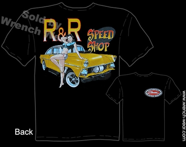 Speed Shop Shirt 1955 Vintage Ford T Shirts 55 Gasser Pin Up Girl Tee