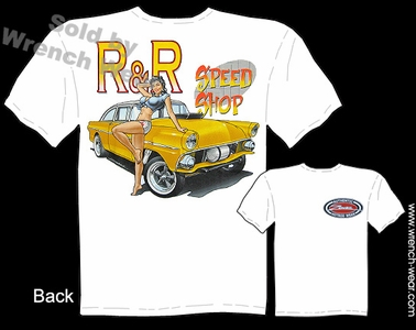 Speed Shop T Shirt 55 Ford Gasser 1955 Vintage Drag Racing Shirts Pin Up Wear