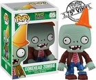 "Funko Pop Games Plants Vs Zombies #05 Conehead Zombie Vinyl 3.75"" Figure"