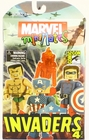 Marvel Minimates Invaders 4 Pack - Captain America, Bucky, Golden Age Human Torch & Namor the Sub-Mariner Action Figures