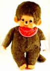 "Monchhichi Vintage Re-Issue 18"" Boy with Red Bib Doll"