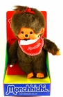 "Monchhichi Vintage Re-Issue 8"" Girl with Red Bib & Red Bow Doll"