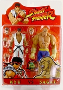 Street Fighter Sota Toys Ryu vs Sagat 2 Pack Sota Toys Action Figures