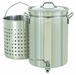 Bayou Classic 40 Quart/10 Gallon Steam/Boil/Fry Stockpot With SpigotLid And Basket , Model# 1140