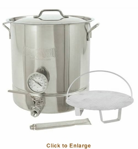 Bayou Classic 16-Gal. Brew Kettle Set, stainless, 64-Qt., Model# 800-416