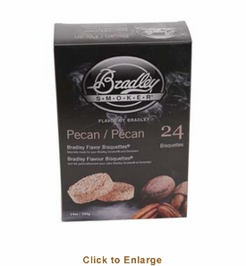 Bradley Smoker Pecan Bisquettes 24 Pk for Bradley Smokers #BTPC24
