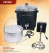 Cajun Injector 30 Quart Electric Turkey Fryer (Blue LED)