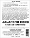Sausage Maker Jalapeno Herb Sausage Seasoning Makes 50 lbs #91550