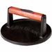 Jim Beam Cast Iron Burger Press With Wood Handle, Model# JB0158