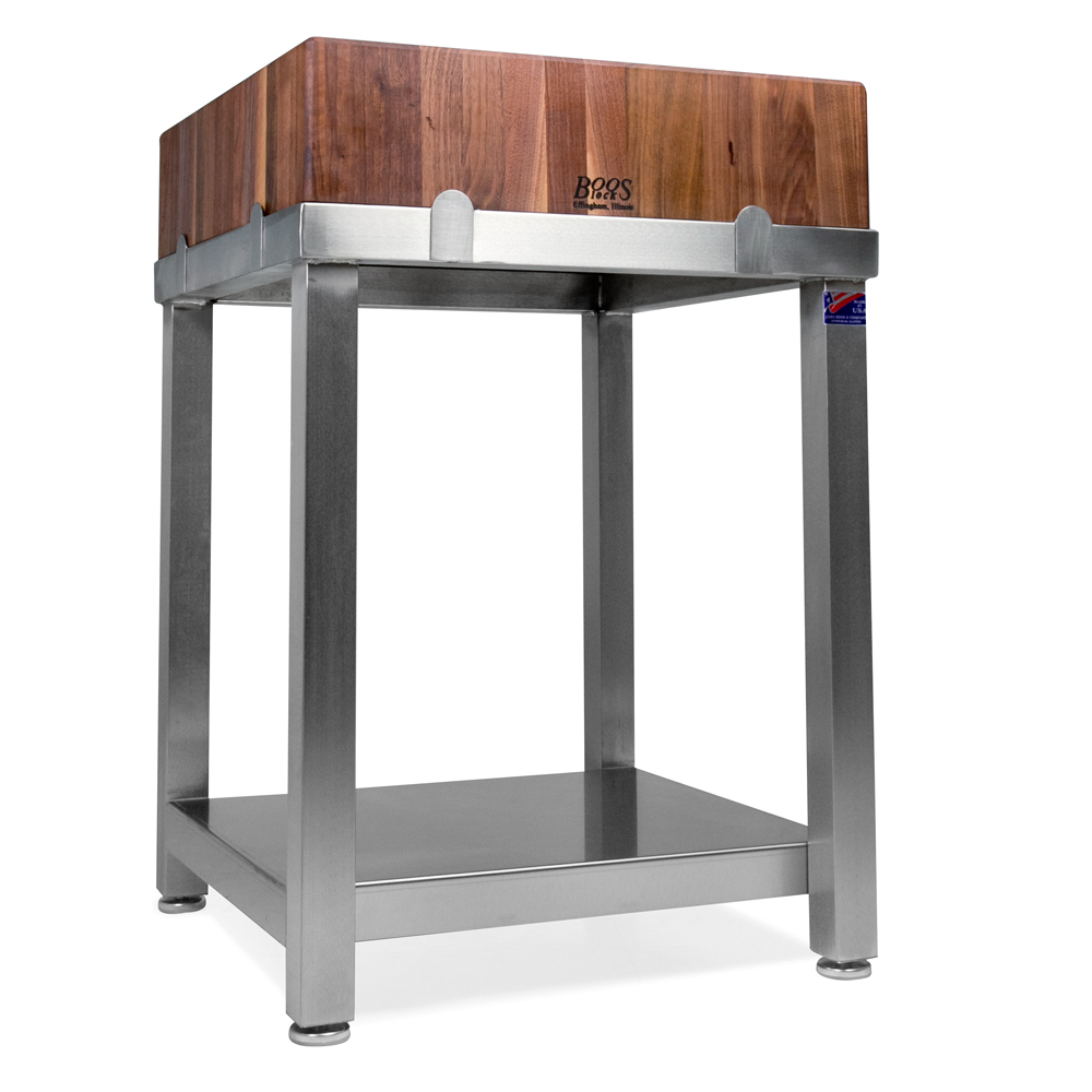 john boos stainless steel base only butcher block tables