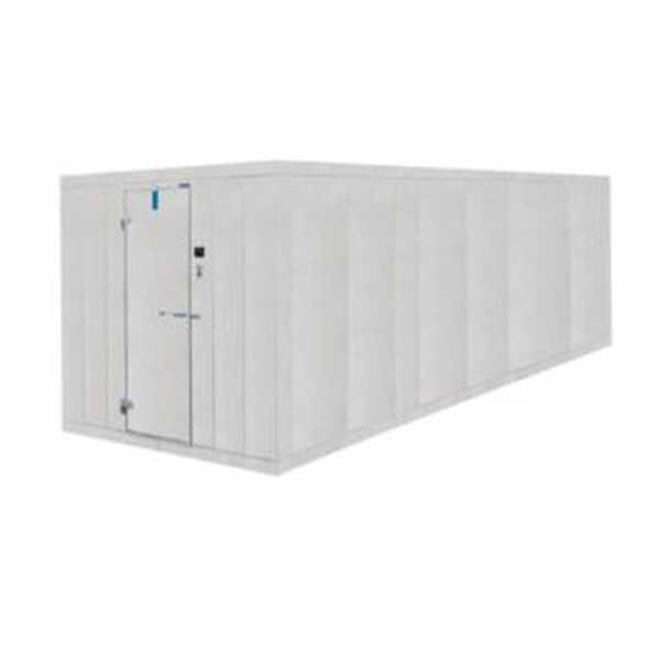 """Nor-Lake Fast-Trak™ Indoor Two Compartment Walk-In, 10' x 20' (10' x 10' & 10' x 10' compartments) x 7'7"""" H, freezer with smooth aluminum interior floor, cooler less floor, 26 gauge embossed coated steel interior & exterior finish, self-closing doo"""