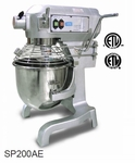 Omcan (Fma) 'General Purpose Mixer20 QtCapacity3 Speed Gear Driven1-1/2 HpCeEtl And Etl Sanitation, Model# 20441