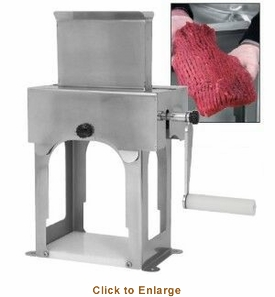 Sausage Maker  Manual Meat Cuber - Stainless Steel