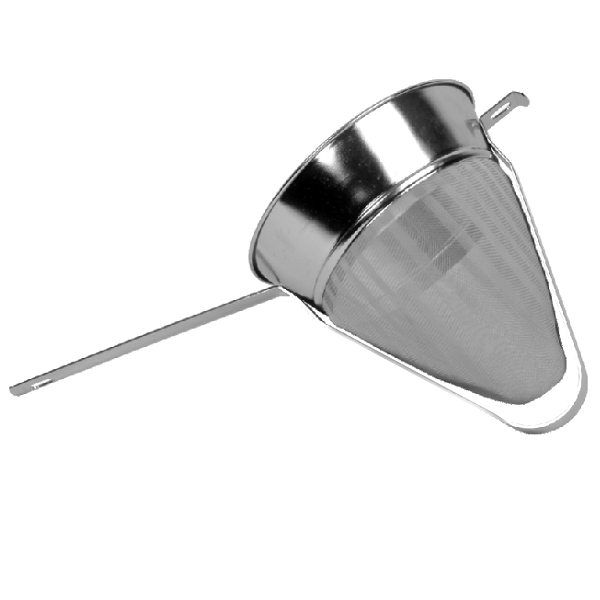 "Thunder Group 8"" Bouillon Strainer Fine Mesh Reinforced(Stainless Steel) THUN-SLKCP208R"
