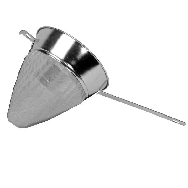 "Thunder Group 8"" Bouillon Strainer Fine Mesh (Stainless Steel) THUN-SLKCP208"