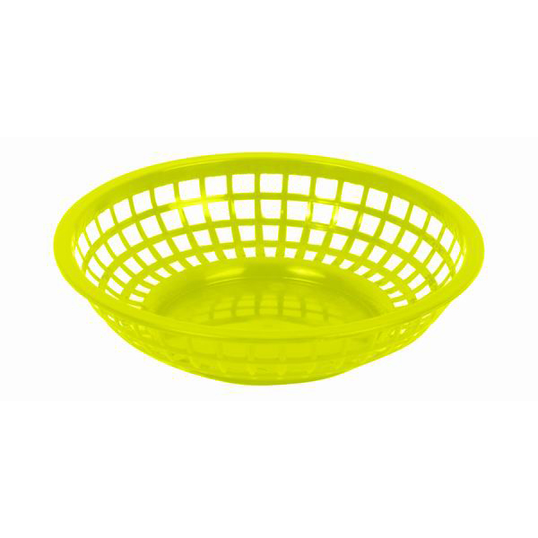 "Thunder Group 8"" Round Basket, Yellow THUN-PLBK008Y"