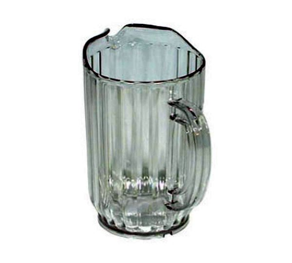 Update International Water Pitcher Plastic 32 Oz Clear|WP-32SC