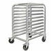 "Winco 10 Tier Aluminum Rack With Brake,Space:3"", Model# ALRK-10BK"