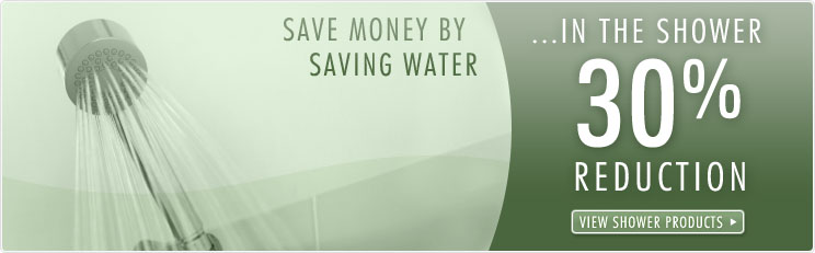 Low Flow Water Saving Showerheads Use Up to 50% Less Water