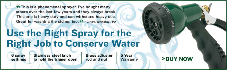 Garden Hose Nozzle - Use the Right Spray for the Right Job to Conserve Water