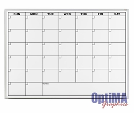 One Month Dry Erase Calendars