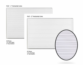 4 x 6 Lined Dry Erase Boards