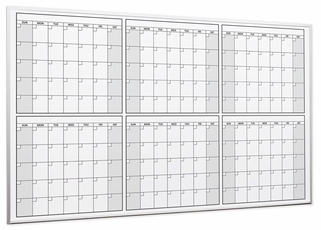 6 Month or 180 Day Dry Erase Calendars
