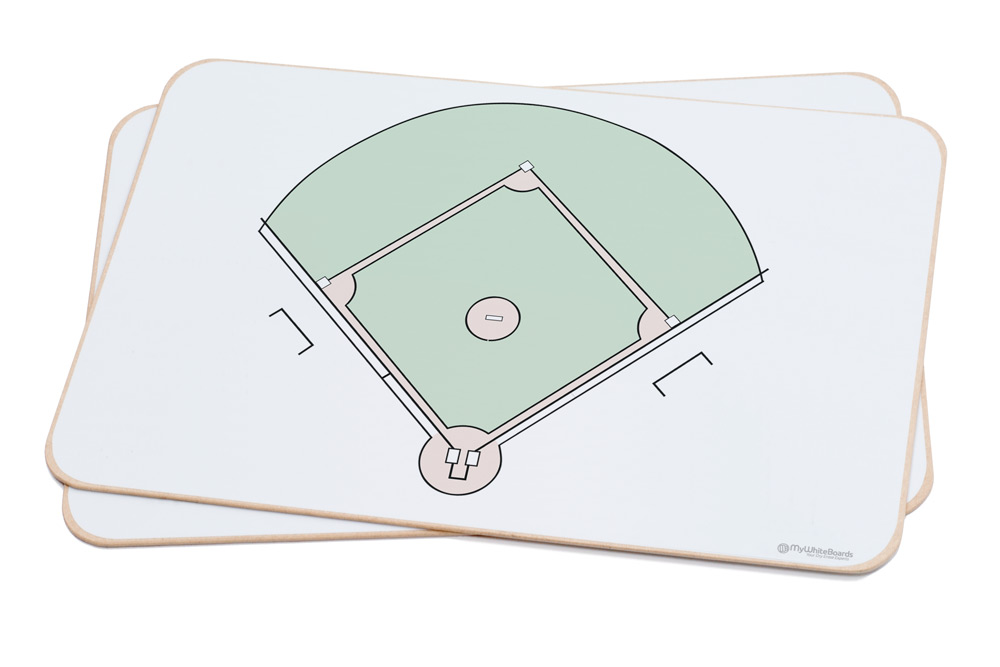 Baseball Diamond Dry Erase Boards For Coaches
