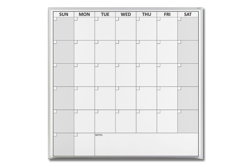 Magnetic One Month Dry Erase Calendar