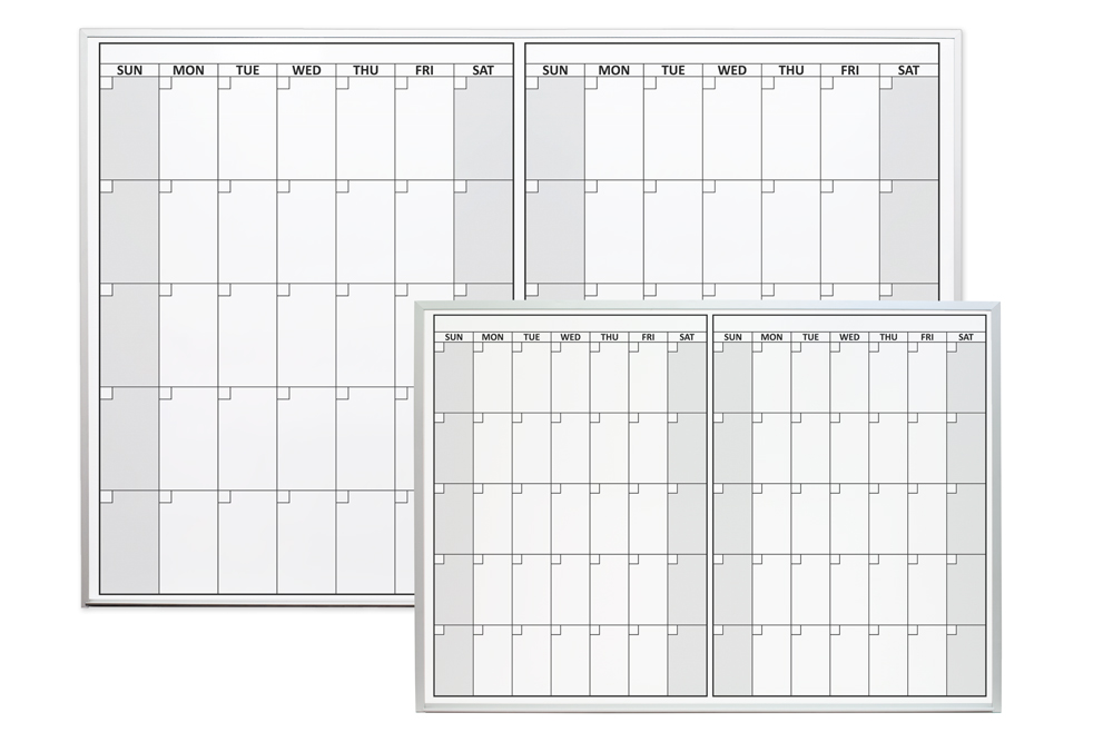 Magnetic Two Month Dry Erase Calendar