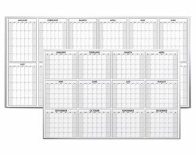 Magnetic Dry Erase Yearly Planning Calendar
