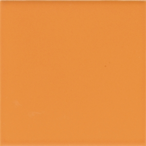 "American Olean Bright Mandarin Orange 6"" x 6"""