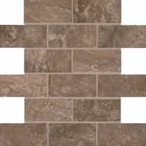 American Olean Laurel Heights Brown Pinnacle Brick Joint Mosaic