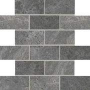 American Olean Laurel Heights Charcoal Crest Brick Joint Mosaic