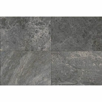 "American Olean Laurel Heights Charcoal Crest Porcelain Tile 12"" x 24"""