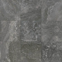 "American Olean Laurel Heights Charcoal Crest Porcelain Tile 18"" x 18"""