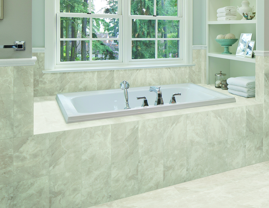 American Olean Mirasol Silver Marble 10 Quot X 14 Quot Wall Tile