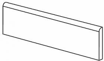 """American Olean Urban Canvas Gloss Biscuit 4"""" x 8"""" Bullnose"""