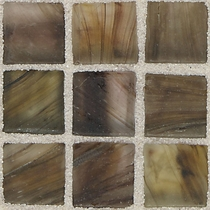 """American Olean Visionaire Evening Shadow 5/8"""" x 5/8"""" Mosaic Frosted"""
