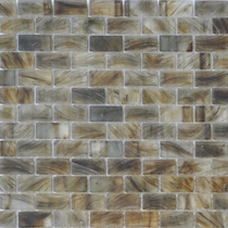 """American Olean Visionaire Gentle Earth 5/8"""" x 1 1/4"""" Mosaic Frosted"""