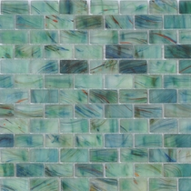 """American Olean Visionaire Peaceful Sea 5/8"""" x 1 1/4"""" Mosaic Frosted"""