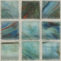 """American Olean Visionaire Peaceful Sea 5/8"""" x 5/8"""" Mosaic Frosted"""