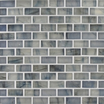 """American Olean Visionaire Serenity Blue 5/8"""" x 1 1/4"""" Mosaic Frosted"""