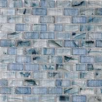 """American Olean Visionaire Serenity Blue 5/8"""" x 1 1/4"""" Mosaic Glossy"""