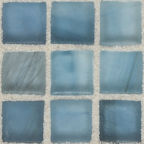 """American Olean Visionaire Serenity Blue 5/8"""" x 5/8"""" Mosaic Frosted"""