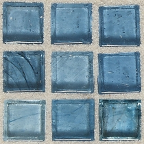"""American Olean Visionaire Serenity Blue 5/8"""" x 5/8"""" Mosaic Glossy"""